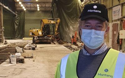 Mantena i gang med bygging av ny og moderne lakkhall