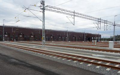 Se en 360 vy av nya Hässleholmsdepån