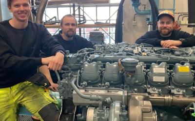 Mantena leverar nybyggda motorer till Transitio AB